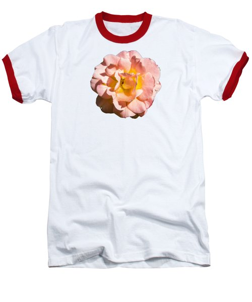 Peach Rose Baseball T-Shirt by Brian Manfra