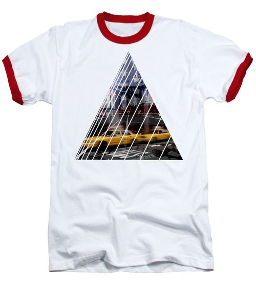 City-art Nyc Composing Baseball T-Shirt by Melanie Viola