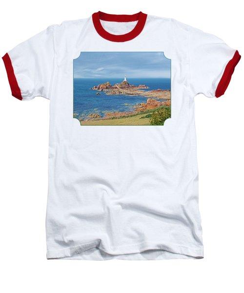 Corbiere Lighthouse Jersey Baseball T-Shirt by Gill Billington