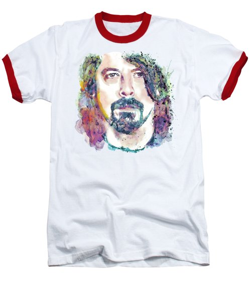 Dave Grohl Close-up Baseball T-Shirt by Marian Voicu