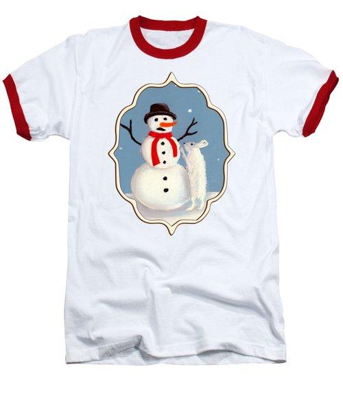 Don't Eat My Nose Baseball T-Shirt by Anastasiya Malakhova