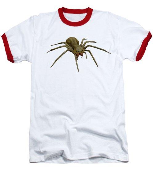 Evil Spider Baseball T-Shirt by Martin Capek
