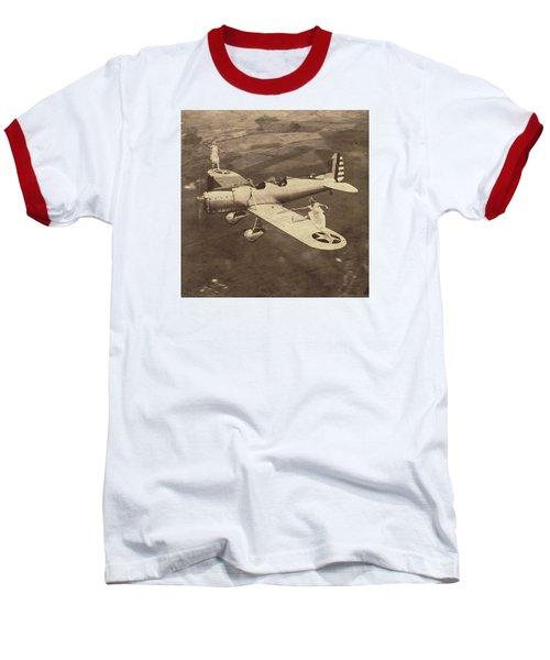 Extreme Tennis Baseball T-Shirt by Marian Voicu