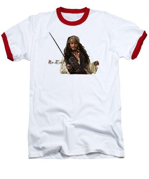 Johnny Depp, Pirates Of The Caribbean Baseball T-Shirt by iMia dEsigN