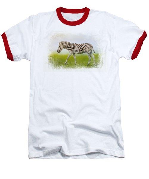 Journey Of The Zebra Baseball T-Shirt by Jai Johnson
