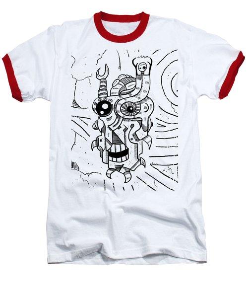 Killer Robot Baseball T-Shirt by Sotuland Art