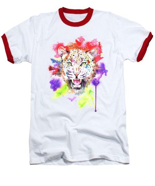 Leopard Baseball T-Shirt by Isabel Salvador