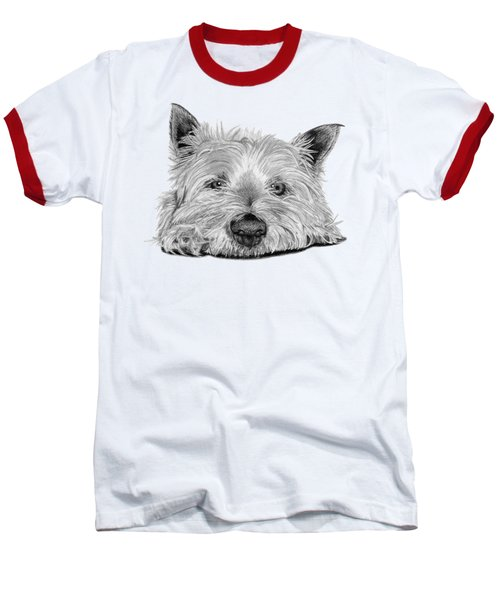Little Dog Baseball T-Shirt by Sarah Batalka