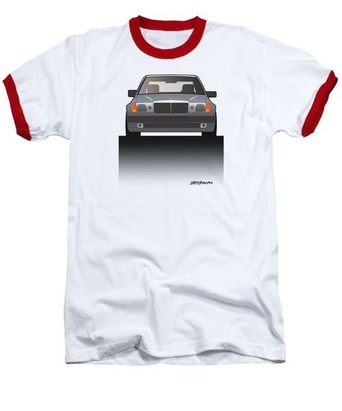 Modern Euro Icons Series Mercedes Benz W124 500e Split  Baseball T-Shirt by Monkey Crisis On Mars