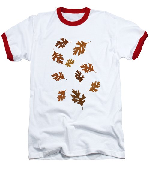 Oak Leaves Art Baseball T-Shirt by Christina Rollo
