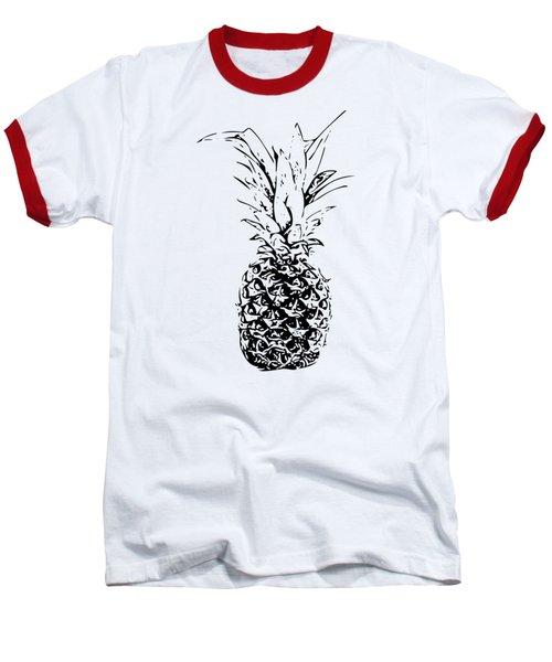 Pineapple Baseball T-Shirt by Daniel Precht