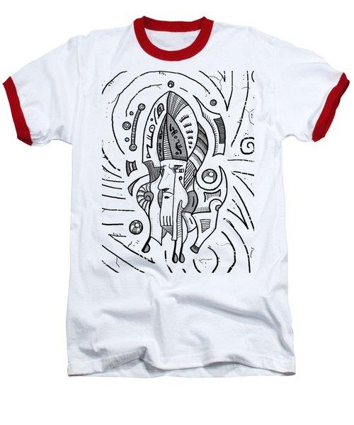 Surrealist Head Baseball T-Shirt by Sotuland Art