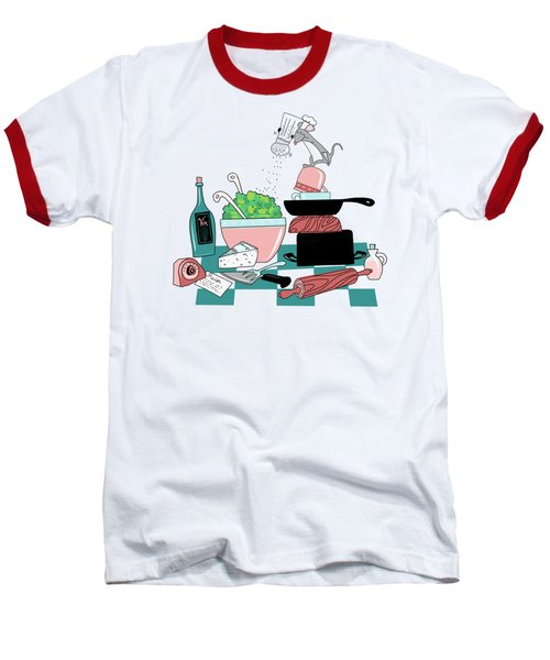 The Hungry Mouse Baseball T-Shirt by Little Bunny Sunshine