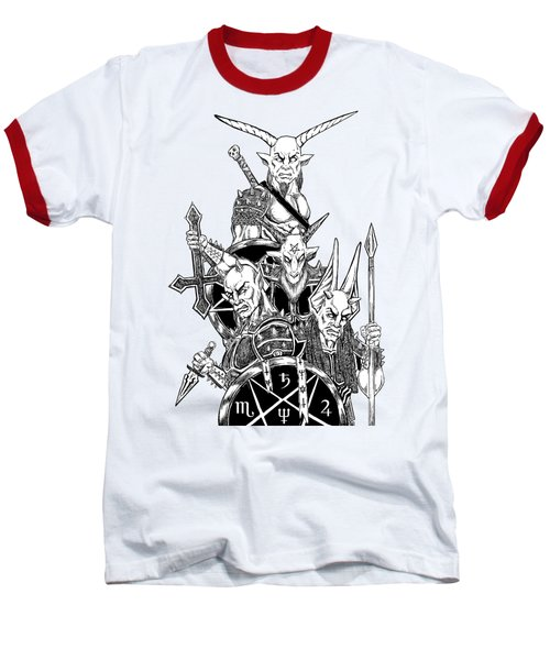 The Infernal Army White Version Baseball T-Shirt by Alaric Barca