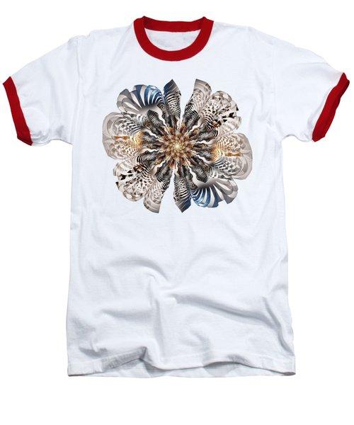 Zebra Flower Baseball T-Shirt by Anastasiya Malakhova