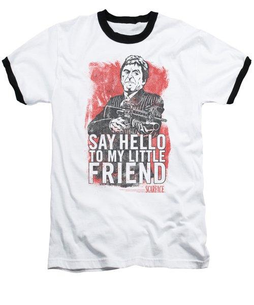 Scarface - Little Friend Baseball T-Shirt by Brand A