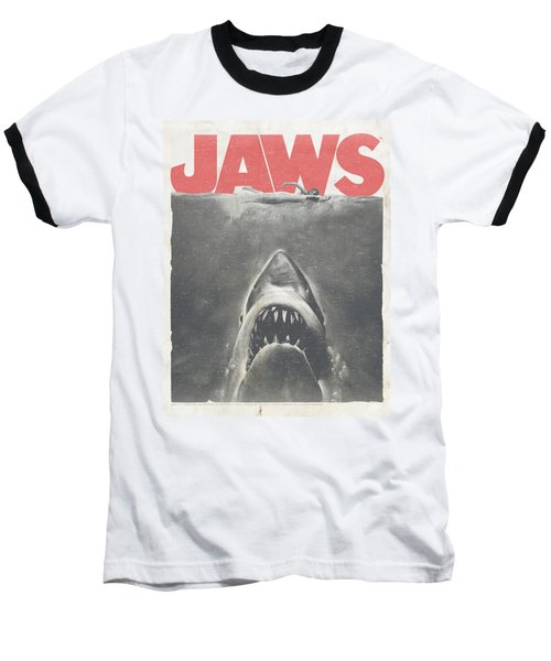 Jaws - Classic Fear Baseball T-Shirt by Brand A