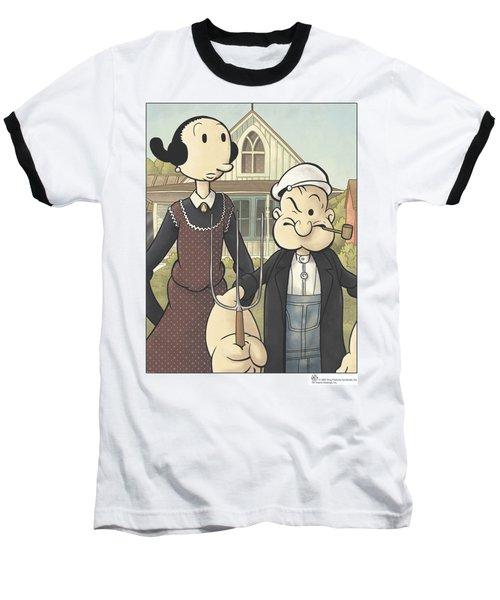 Popeye - Popeye Gothic Baseball T-Shirt by Brand A
