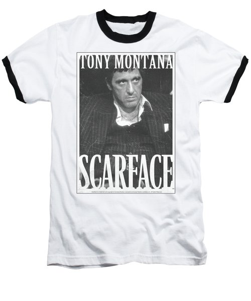 Scarface - Business Face Baseball T-Shirt by Brand A