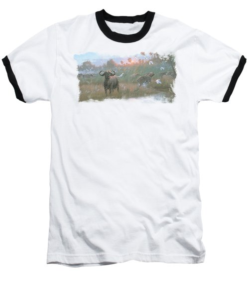 Wildlife - Cape Buffalo Baseball T-Shirt by Brand A