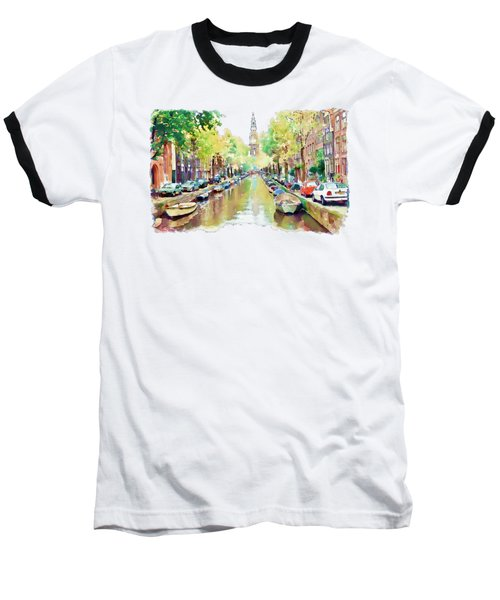 Amsterdam Canal 2 Baseball T-Shirt by Marian Voicu