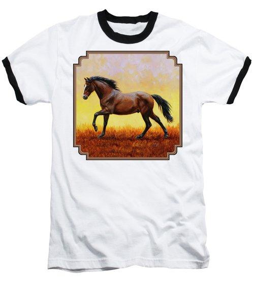 Midnight Sun Baseball T-Shirt by Crista Forest