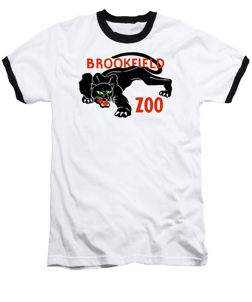 Black Panther Brookfield Zoo Ad Baseball T-Shirt by Heidi De Leeuw