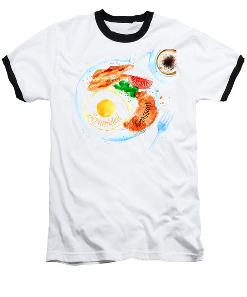 Breakfast 01 Baseball T-Shirt by Aloke Design
