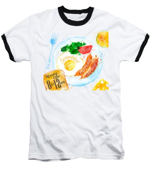 Breakfast 04 Baseball T-Shirt by Aloke Design