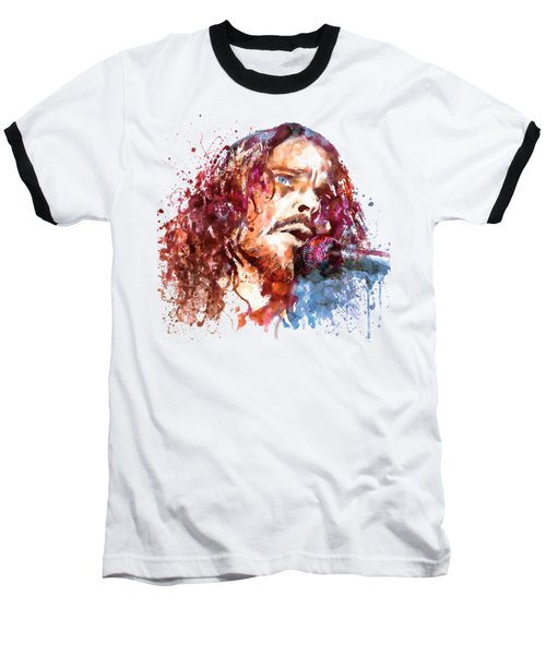 Chris Cornell Baseball T-Shirt by Marian Voicu