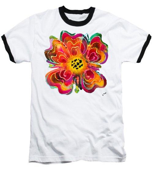 Colorful Flower Art - Summer Love By Sharon Cummings Baseball T-Shirt by Sharon Cummings