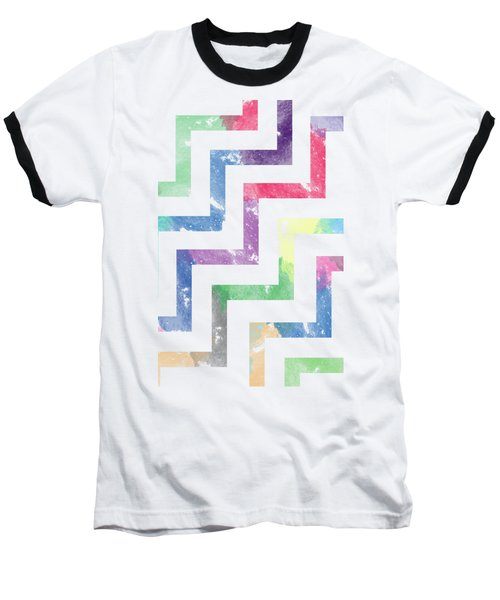 Colorful Geometric Patterns Vi Baseball T-Shirt by Amir Faysal