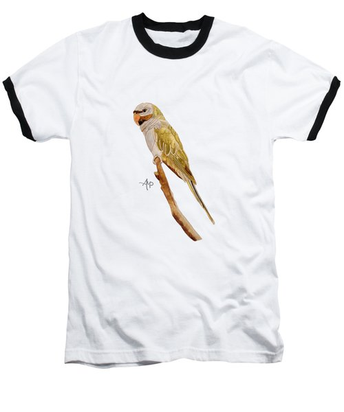 Derbyan Parakeet Baseball T-Shirt by Angeles M Pomata