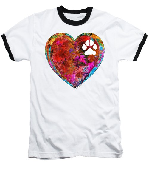 Dog Art - Puppy Love 2 - Sharon Cummings Baseball T-Shirt by Sharon Cummings