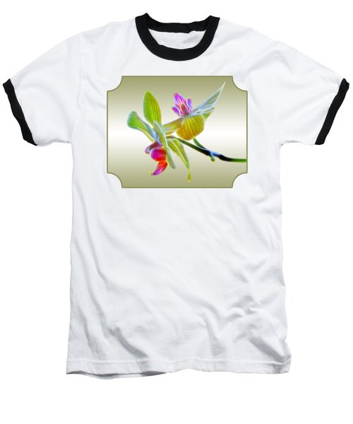 Dragon Glow Orchid Baseball T-Shirt by Gill Billington