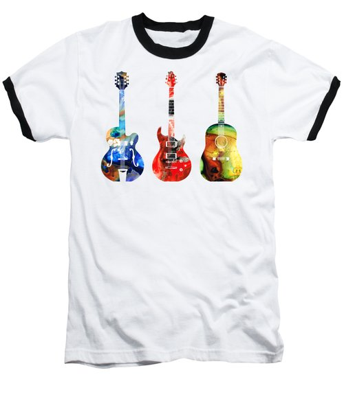 Guitar Threesome - Colorful Guitars By Sharon Cummings Baseball T-Shirt by Sharon Cummings