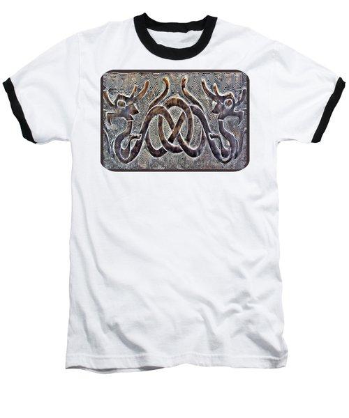 Hidden Dragon Baseball T-Shirt by Ethna Gillespie