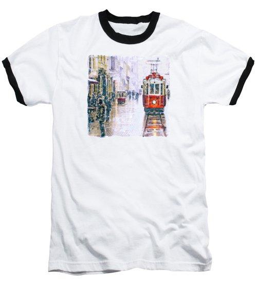 Istanbul Nostalgic Tramway Baseball T-Shirt by Marian Voicu