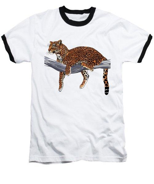 Leopard Baseball T-Shirt by Alexandra Panaiotidi