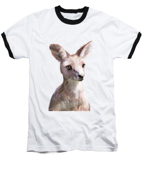 Little Kangaroo Baseball T-Shirt by Amy Hamilton