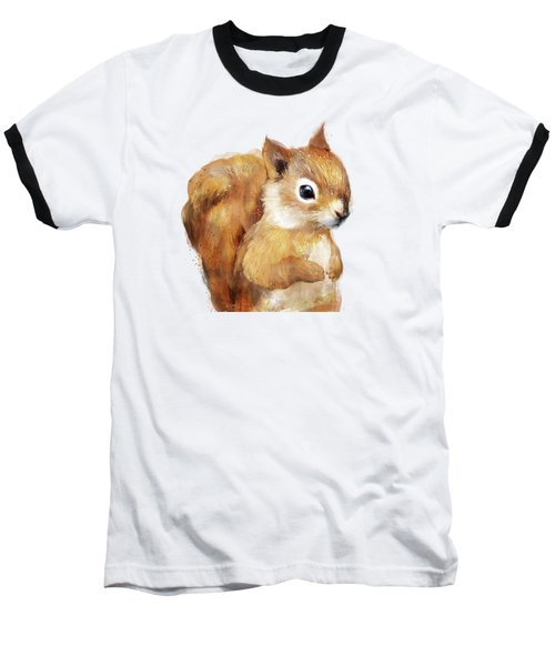 Little Squirrel Baseball T-Shirt by Amy Hamilton