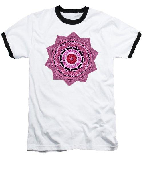 Loving Rose Mandala By Kaye Menner Baseball T-Shirt by Kaye Menner