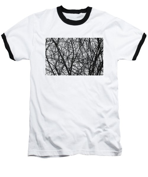 Natural Trees Map Baseball T-Shirt by Konstantin Sevostyanov
