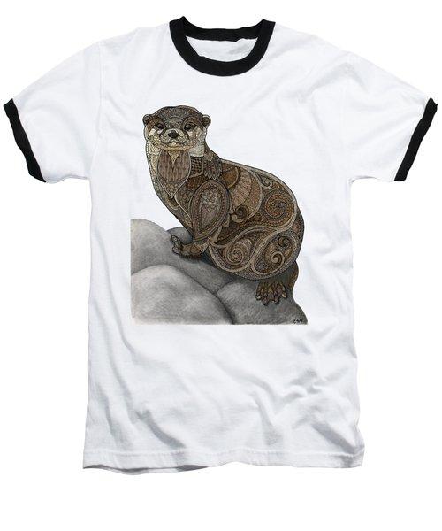 Otter Tangle Baseball T-Shirt by ZH Field