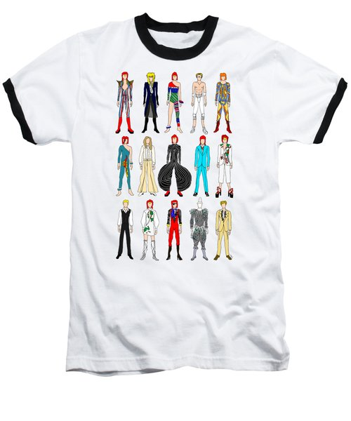 Outfits Of Bowie Baseball T-Shirt by Notsniw Art