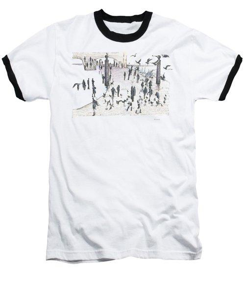 People And Birds, 19 December, 2015 Baseball T-Shirt by Tatiana Chernyavskaya