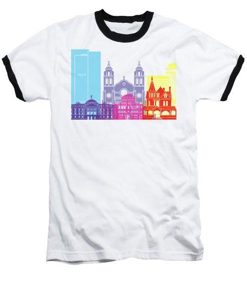 Phoenix Skyline Pop Baseball T-Shirt by Pablo Romero