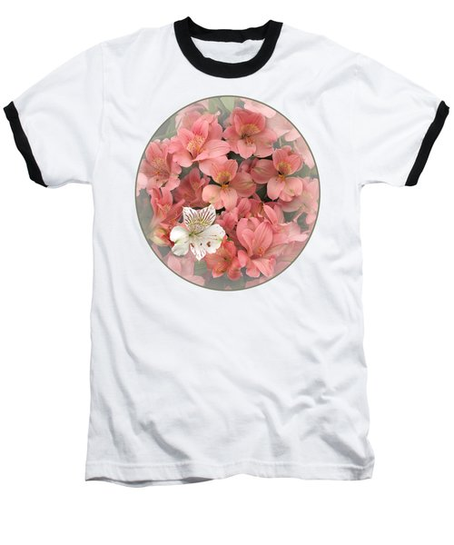 Prima Donna - Alstroemeria Baseball T-Shirt by Gill Billington