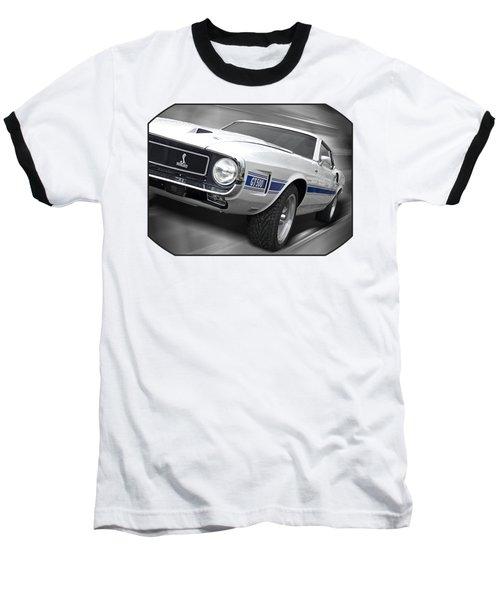 Rain Won't Spoil My Fun - 1969 Shelby Gt500 Mustang Baseball T-Shirt by Gill Billington
