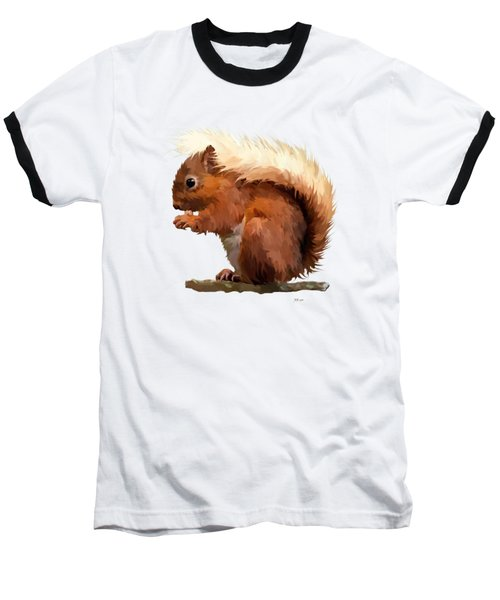 Red Squirrel Baseball T-Shirt by Bamalam  Photography